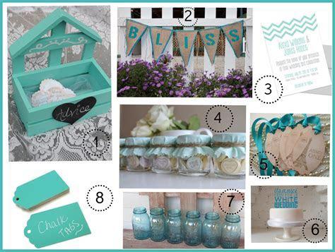 Turquoise Wedding Color Theme   Rustic Wedding Chic