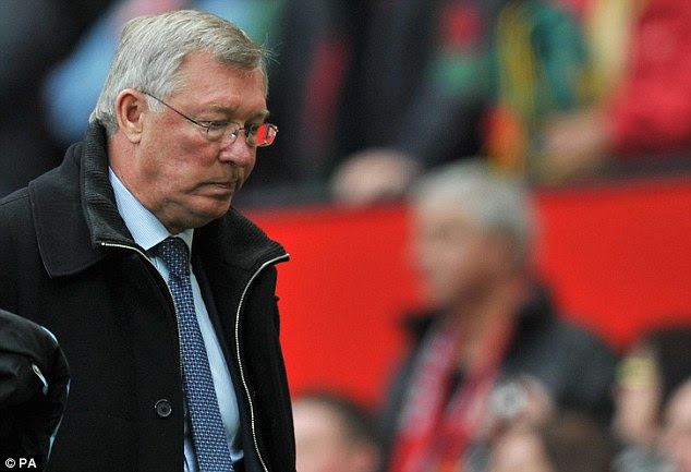 Plenty to ponder: Sir Alex Ferguson was left to reflect on a devastating defeat