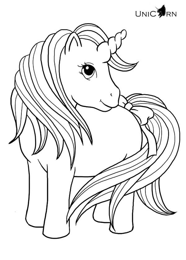 Unicorn coloring pages to download and print for free
