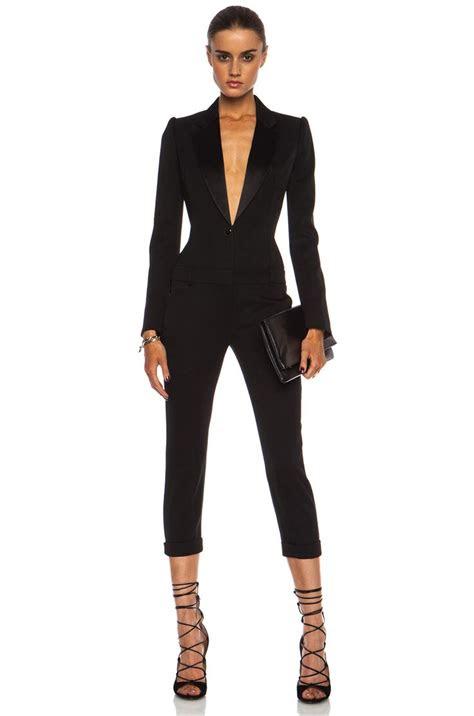 alexander mcqueen cigarette tuxedo virgin wool jumpsuit