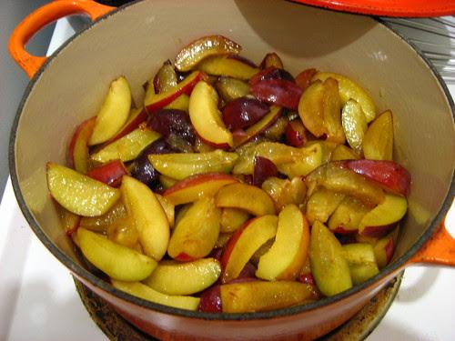 gluten-free plum slump