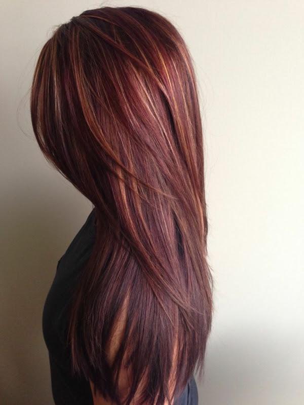 Dunkle lange haare