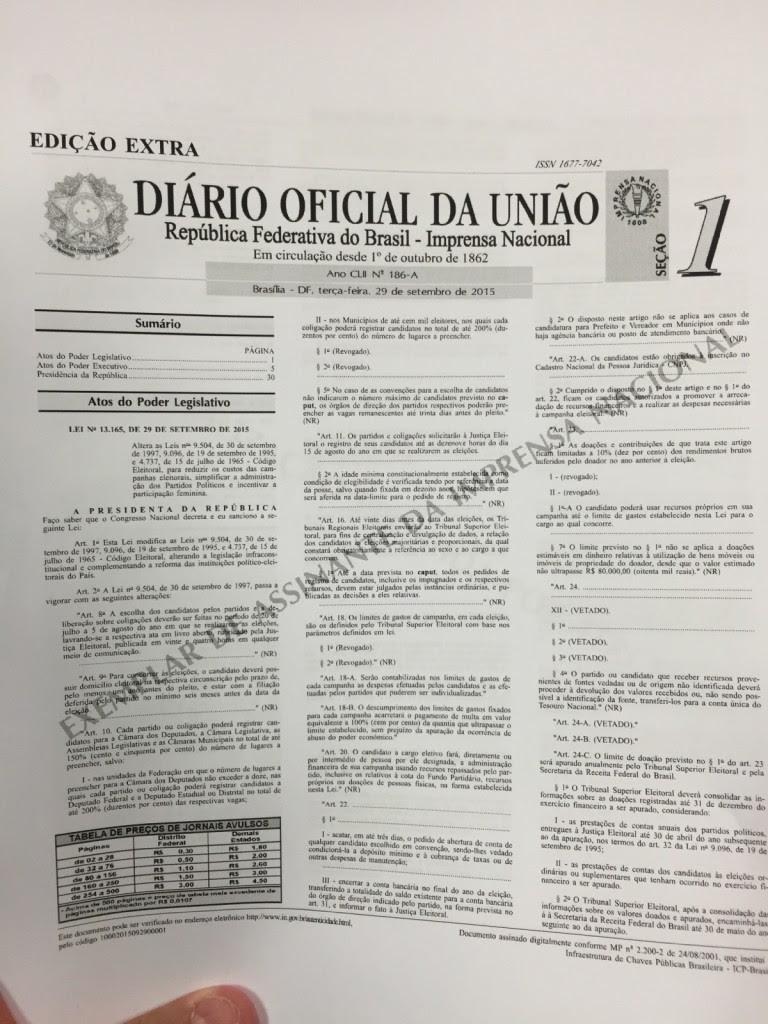 nova lei eleitoral