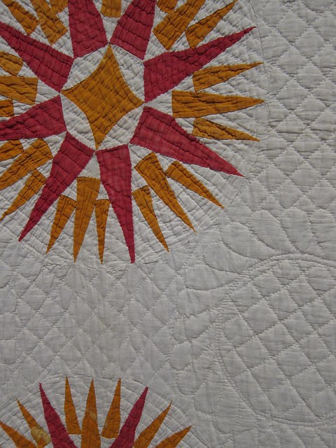 Mariner's Compass Quilt 1840-1860