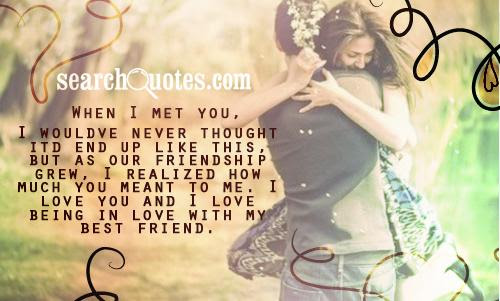 When I Met You Being In Love Quote Quotespicturescom