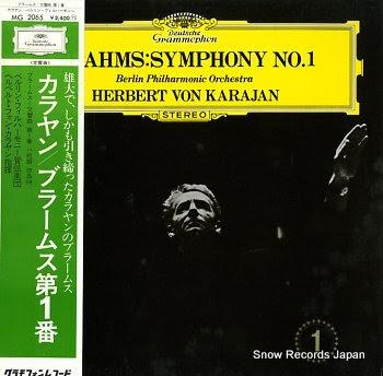 KARAJAN, HERBERT VON brahms; symphony no.1