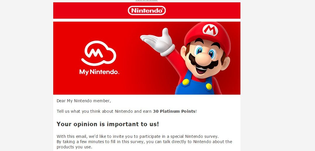 Check your email for some bonus My Nintendo points screenshot