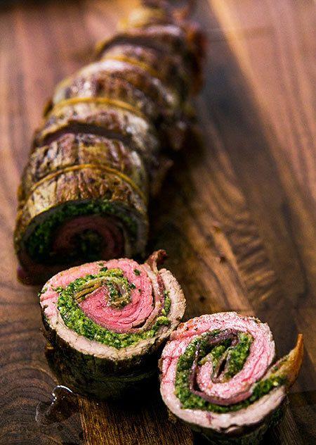 #walnut #beef #meat #pesto
