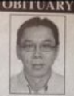 Frankie Chin's sudden death was reported in the Borneo Post last month.