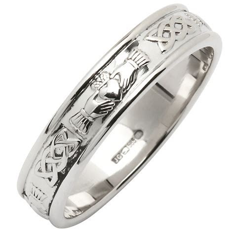 Irish Wedding Ring   Ladies Narrow Corrib Claddagh Wedding