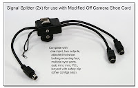 OC1039: OCC Signal Splitter (2x) with Hot Shoe, Sync Ports, and Mounting Foot