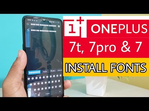 OnePlus 7t, 7 & 7pro fonts