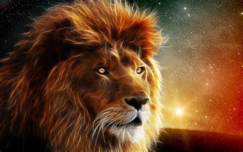 Lion Wallpaper Hd Digital Art Animal : Wallpapers13.com