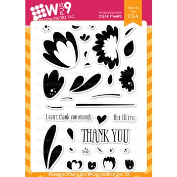 Wplus9 SUMMER BLOOMS Clear Stamps CLWP9SUB