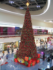 Giant Christmas tree at Mall of Asia