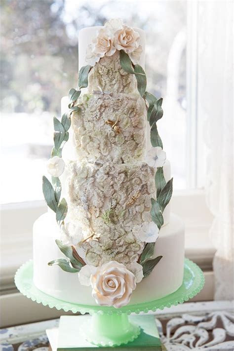 25 Glamorous Wedding Cake Ideas   Deer Pearl Flowers