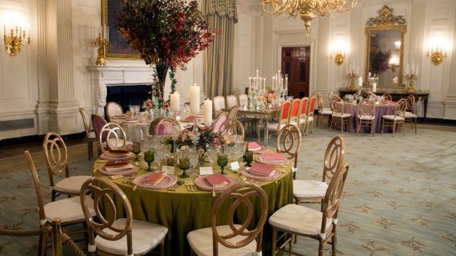 Cuarto de cenas de Estado de la Casa Blanca.
