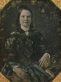 The first photograph ever taken of Mary Lincoln, a daguerreotype by N.H. Shepherd, about 1846.