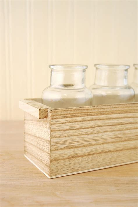 Wood Tray with Bottles