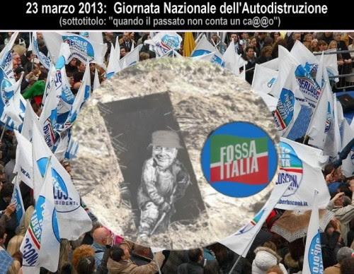 opinioni,satira,attualità,politica,berlusconi,manifestazione pdl,fossa italia,