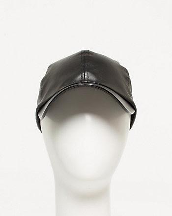 Leather-like Cap