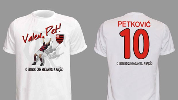 camisa Petkovic (Foto: Site Oficial do Flamengo)