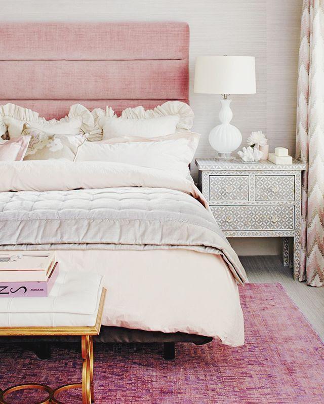 DESIGN: Powder Pink + White Bedroom