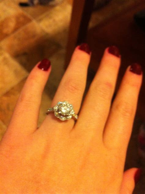 Engagement ring I love my ring sorry for the bad pic