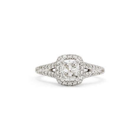 Cushion Cut Split Shank Diamond Engagement Ring   Leo