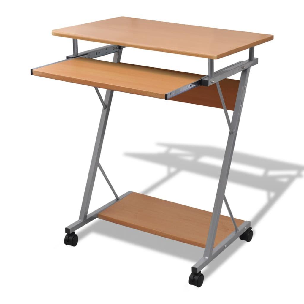 Computertisch mit Rollen Preisvergleich  Rechner schreibtisch auf rollen