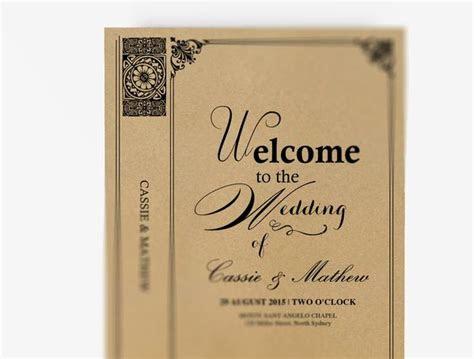 wedding program booklet diy editable ms word template