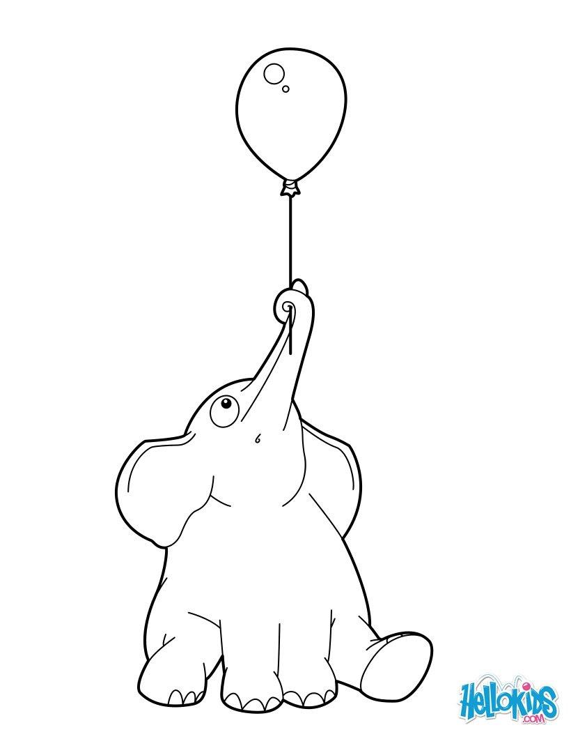 Elefant mit einem Ballon