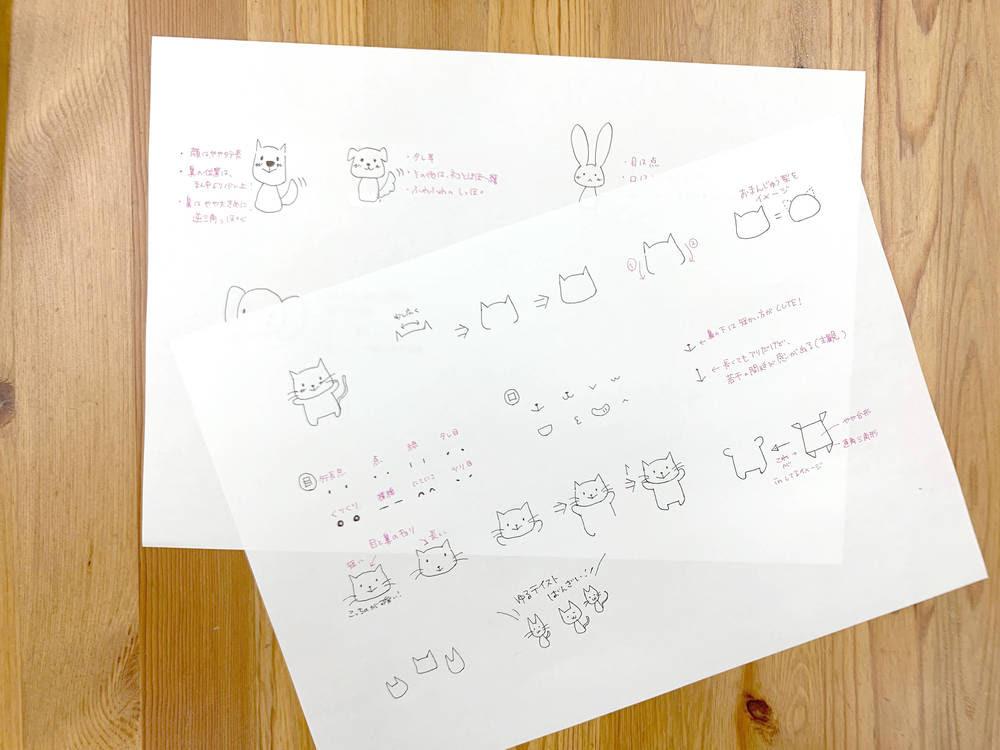 うさぎのキャラクターイラストの簡単な描き方と全身の色塗り かくぬる工房