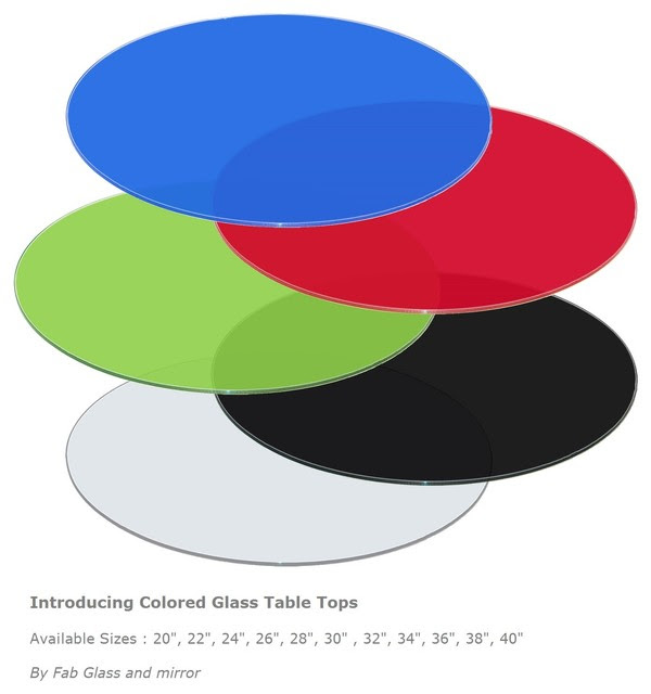 Colored Glass Table Tops by Fab Glass and Mirror