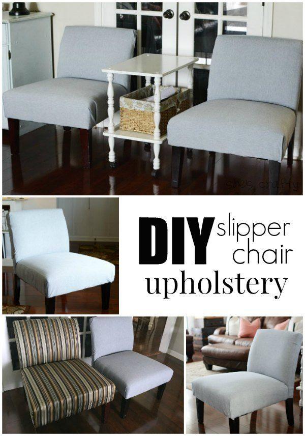 She S Crafty Diy Slipper Chair Upholstery