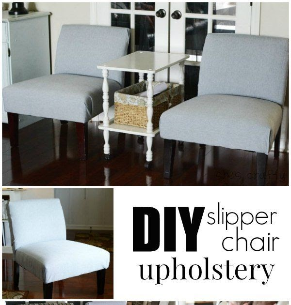 She's crafty: DIY slipper chair upholstery