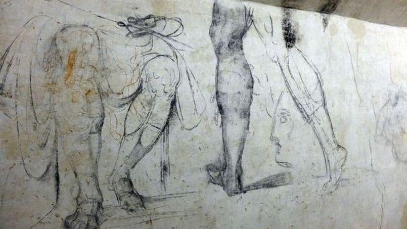 Les dessins de Michel-Ange découverts dans la basilique de San Lorenzo à Florence (Crédits: Claudio Giovannini/afp.com)