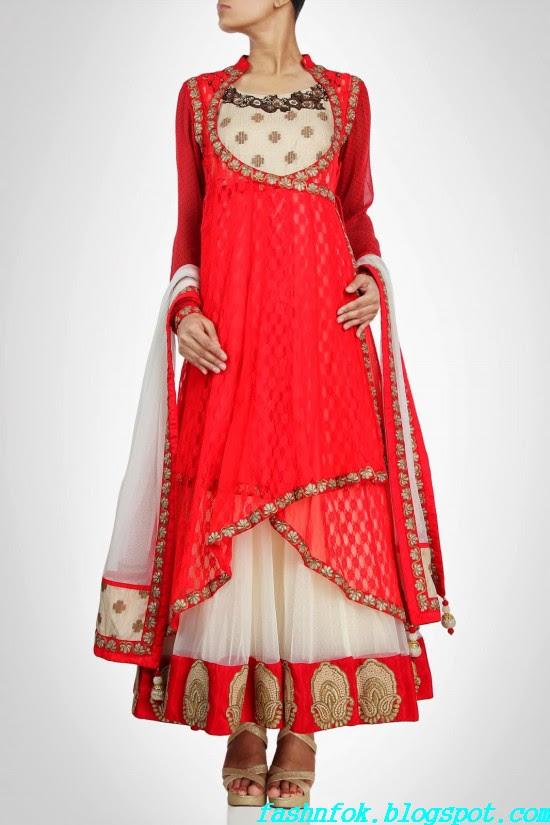 Anarkali-Gorgeous-Bridal- Wedding-Ankle-Length-Dress-by-Designer-Kiran-&-Shruti-Aksh-1