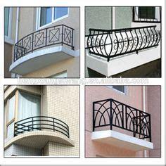 modern balcony grill designs  iron wrought iron