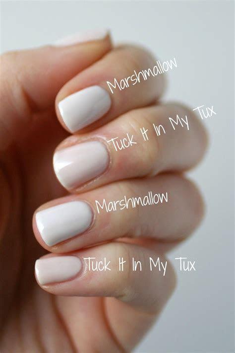 Essie Tuck It In My Tux vs. Essie Marshmallow   Essie Envy