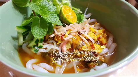 zulfaza loves cooking penang asam laksa