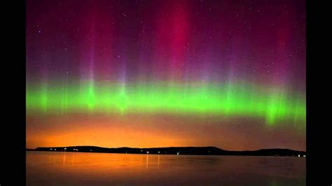 Northern Lights (Aurora Borealis) in Malletts Bay, Vermont