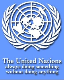 New, more accurate, United Nations Logo (The United Nations always doing something without doing anything)