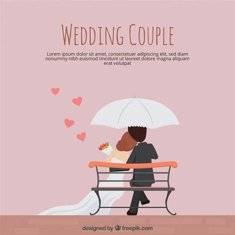 Wedding couple in flat design Vector   Free Download