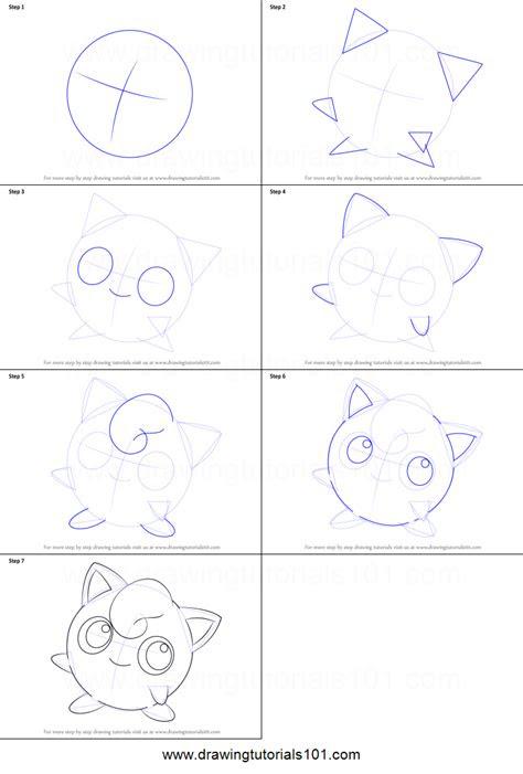 draw jigglypuff  pokemon printable step  step