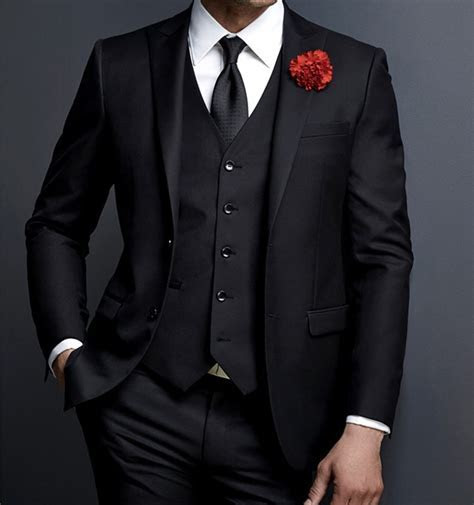 Latest Coat Pant Designs Black Wedding Suits For Men Slim
