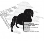 Portuguese Water Dog Yard Art Woodworking Pattern - fee plans from WoodworkersWorkshop® Online Store - Portuguese Water Dogs,pets,animals,dog breeds,yard art,painting wood crafts,scrollsawing patterns,drawings,plywood,plywoodworking plans,woodworkers projects,workshop blueprints