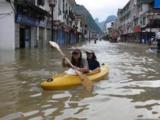 Kanoe a Yangshuo