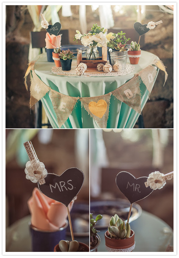 mr. and mrs. head table