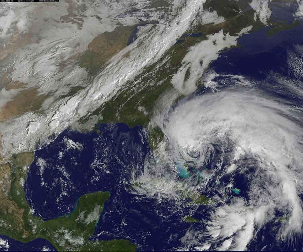 evolucion del huracan sandy